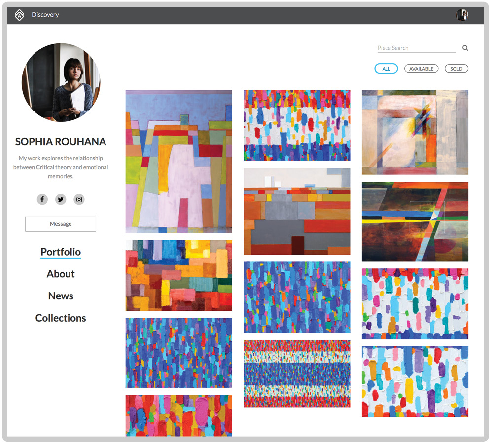 Display your artwork on your own Web Page