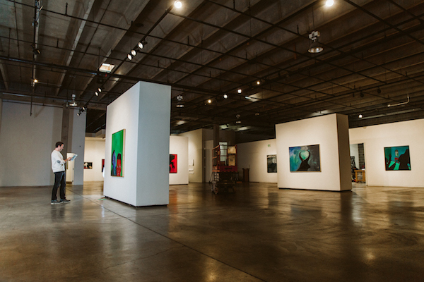 Gallery art space showing inventory and consignments